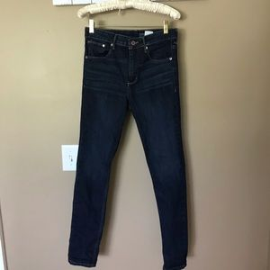 H&M High Rise Skinny Jeans Dark Wash 29/30